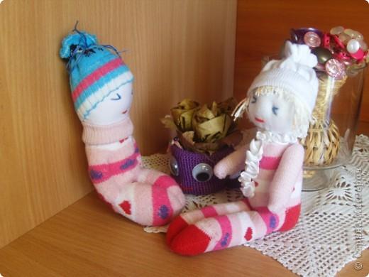 Кукляшки из носочков. фото 2