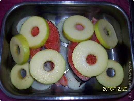 Сёмга в яблоках. фото 4