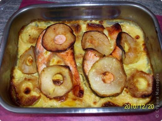 Сёмга в яблоках. фото 5