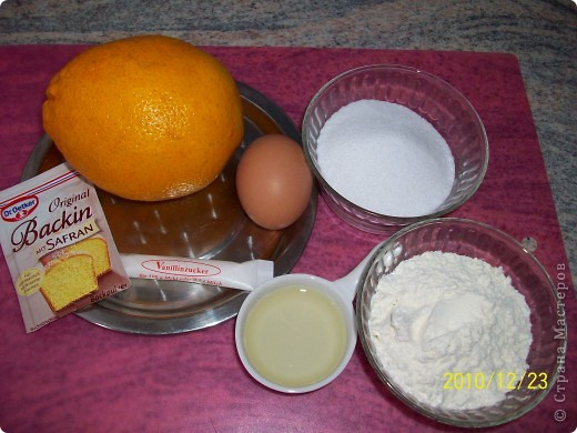 Апельсиновые маффины с сюрпризом. фото 4