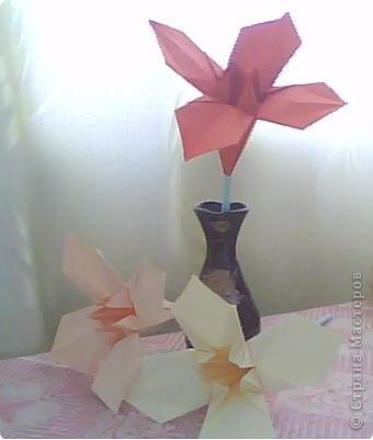 Мои первые цветы из бумаги фото 2