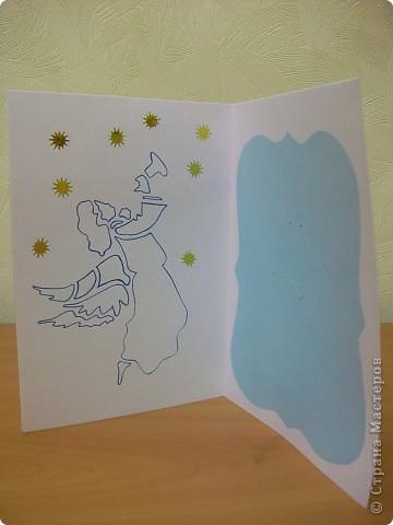 Сделала ещё открытки с Новым годом.  фото 8