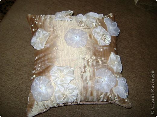 От шитья штор остались лоскуты, которые как то превратились в подушки. фото 3
