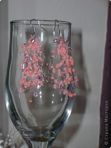 сережки к бисерному колье фото 2