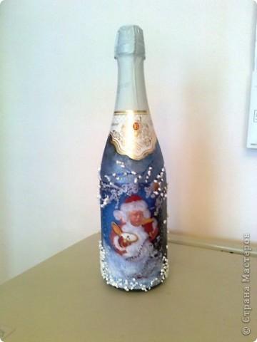 Шампанское для начальника (с его фото) . Пусть почувствует себя Дедом Морозом! фото 1