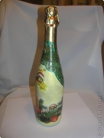 Ничего сверхнеобычного, просто еще одна моя победа над бутылкой. Училась пользоваться обьемными контурами. фото 3