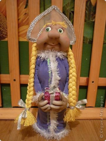 Захотелось на Новый Год сделать что-нибудь красивое, и вот что получилось. Это мои первые куклы, поэтому, не судите строго. фото 1