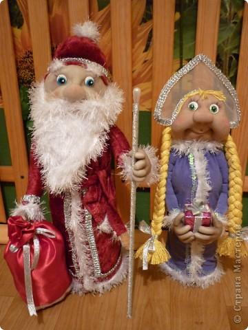 Захотелось на Новый Год сделать что-нибудь красивое, и вот что получилось. Это мои первые куклы, поэтому, не судите строго. фото 3