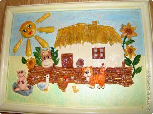 Это моя первая картина, поворюшка сделана с работы Ларисы Ивановой https://stranamasterov.ru/node/91453 Я ее делала для конкурса в садик на тему Украина, времени на нее у меня было два дня, но я уложилась. фото 1