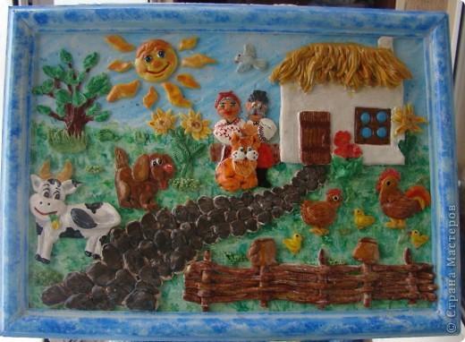 Это моя первая картина, поворюшка сделана с работы Ларисы Ивановой http://stranamasterov.ru/node/91453 Я ее делала для конкурса в садик на тему Украина, времени на нее у меня было два дня, но я уложилась. фото 2