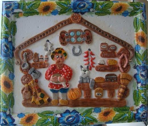 Это моя первая картина, поворюшка сделана с работы Ларисы Ивановой http://stranamasterov.ru/node/91453 Я ее делала для конкурса в садик на тему Украина, времени на нее у меня было два дня, но я уложилась. фото 4