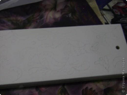 Деревянную заготовку покрываем белой водоэмульсионной краской, в 3 слоя( давая высохнуть каждому слою) фото 8