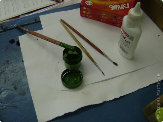 Деревянную заготовку покрываем белой водоэмульсионной краской, в 3 слоя( давая высохнуть каждому слою) фото 9
