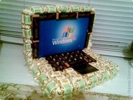 Ноутбук из конфет фото 1