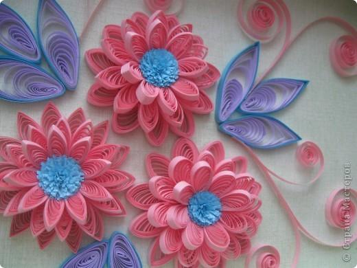 Накопились у меня цветочки и я сделала из них несколько композиций.Решила показать их Вам, пока они без рамок - фотографии без стекла получаются лучше. фото 9