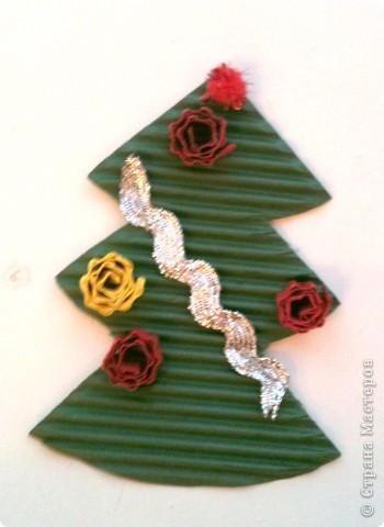 Такие елочки-магниты сделали мои пятилетки в подарок родителям. фото 3
