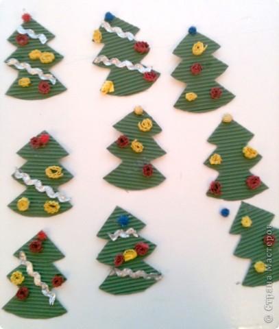 Такие елочки-магниты сделали мои пятилетки в подарок родителям. фото 2