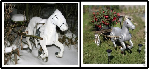 Цветочная подставка - Лошадь