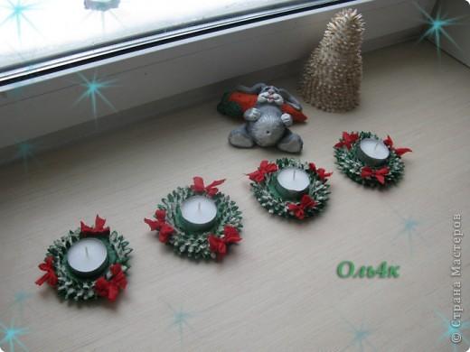 """Ещё одна идейка родилась """"Рождественские подсвечники"""". Может кому пригодится? фото 1"""