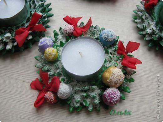 """Ещё одна идейка родилась """"Рождественские подсвечники"""". Может кому пригодится? фото 4"""