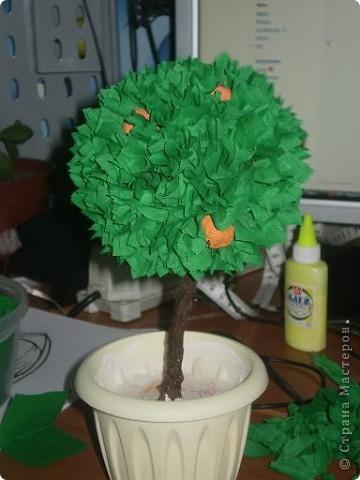 Наше дерево счастья сделанное в подарок на Новый год