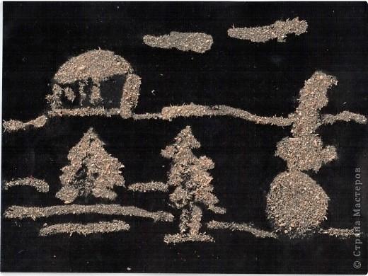 Снеговик в лесу Полины Ефимовой (6л).  фото 7