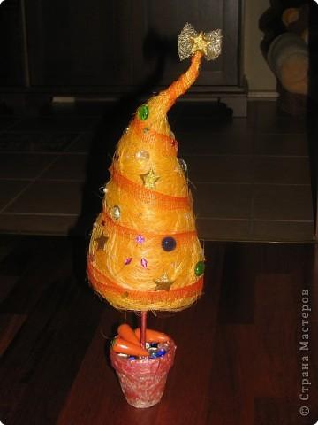 Спасибо за идею для елочки. http://stranamasterov.ru/node/123170 Маша все, кроме конуса смогла сделать сама. фото 2