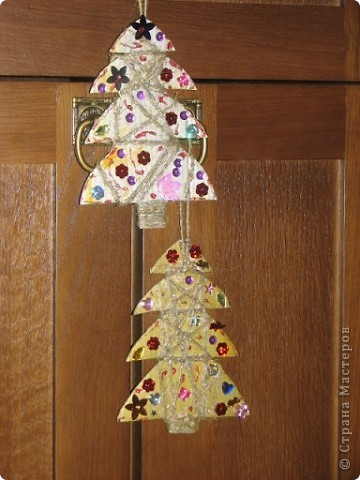 Спасибо за идею для елочки. http://stranamasterov.ru/node/123170 Маша все, кроме конуса смогла сделать сама. фото 6