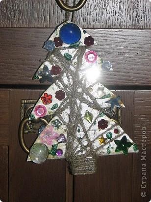 Спасибо за идею для елочки. http://stranamasterov.ru/node/123170 Маша все, кроме конуса смогла сделать сама. фото 8