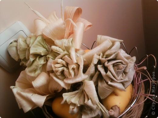 букет из  листьев кукурудзы