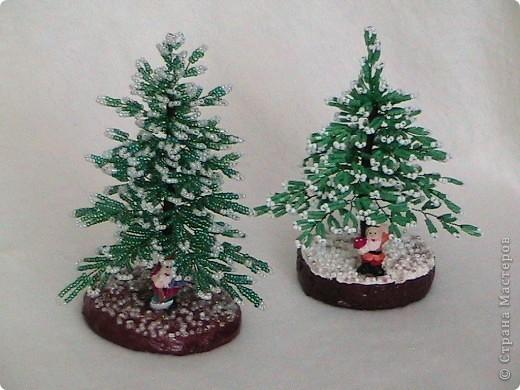 Дед Мороз принес нам елки Бисероплетение.