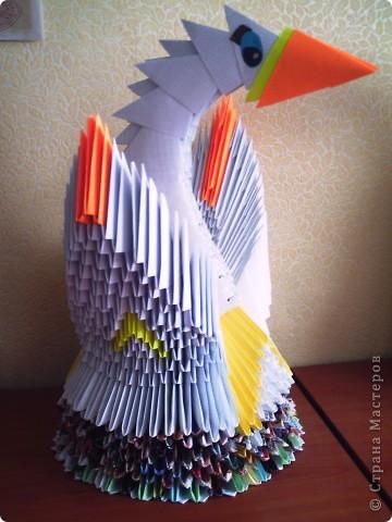 Жил себе жил золотой лебедь. Один-одинёшенек. Скучно ему было! Его историю создания можно посмотреть здесь -  http://stranamasterov.ru/node/93171 фото 2