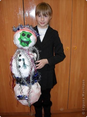 Вот такой веселый снеговик поселился у нас в классе фото 2