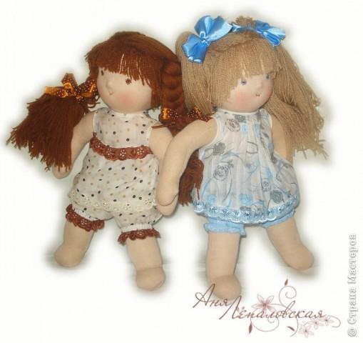 Две сестренки-голышки - для двух сестренок погодок :) 32 см. фото 2