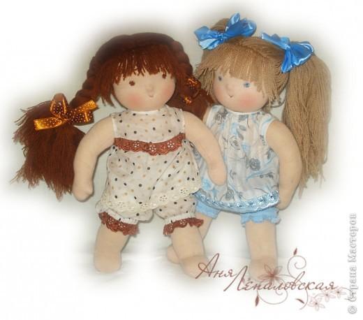 Две сестренки-голышки - для двух сестренок погодок :) 32 см. фото 1