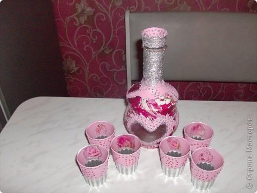 Вот такой набор для крепких напитков получился как-то сам,случайно... фото 5