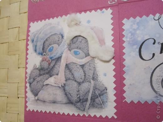 """Вдохновившись созданием """"вечных открыток"""" https://stranamasterov.ru/node/26468?tid=451%2C364, попробовала сделать свою, подруге на день рождения. Мне понравилось это занятие, и вот решила порадовать мужа сюрпризом на Новый год. Поздравление, конечно, адресовано абсолютно идеальному мужчине, но ведь каждой хочется, чтобы рядом был такой!!! Поэтому, пусть оно будет пожеланием и целью, к чему надо стремиться, для мужа!!! смущаюсь смеюсь фото 2"""