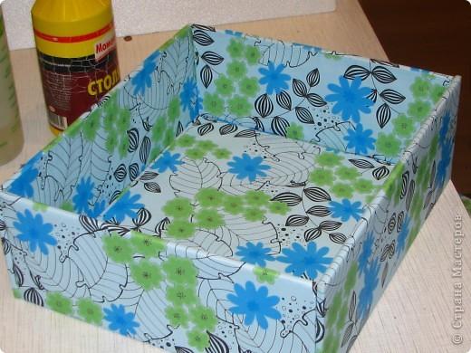 Покажу вам, как я сделала вот такую коробку для новогодних шариков. Надеюсь мой МК кому-нибудь пригодится фото 13