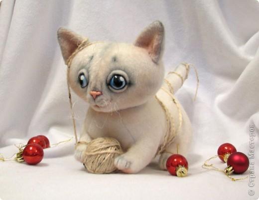 Маленький котенок, нашел себе клубочек, и абсолютно уверен, что это мышка-непоседа)) фото 5