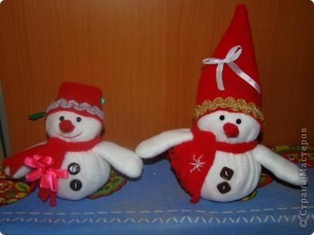 Мои любимые снеговики. Каждый год делаю их - на подарки близким. фото 1