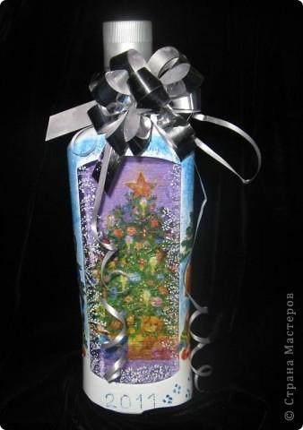Вот такие бутылочки получились в подарок. фото 5