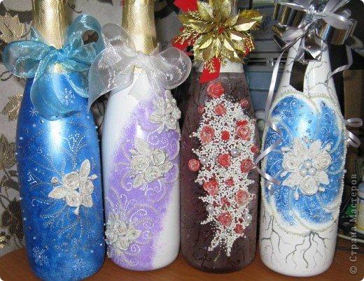 Вот такие бутылочки получились в подарок. фото 1
