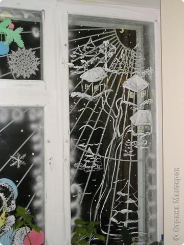 Роспись зубным порошком с добавлением гуаши. фото 4