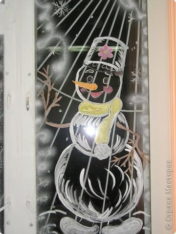 Роспись зубным порошком с добавлением гуаши. фото 6