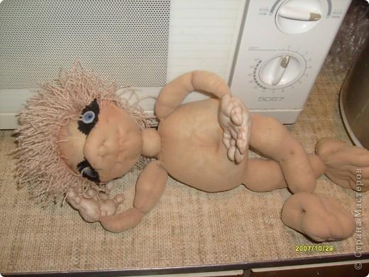 Кукла из капроновых носков. фото 1