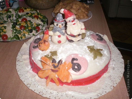 Мои новогодний тортик фото 1