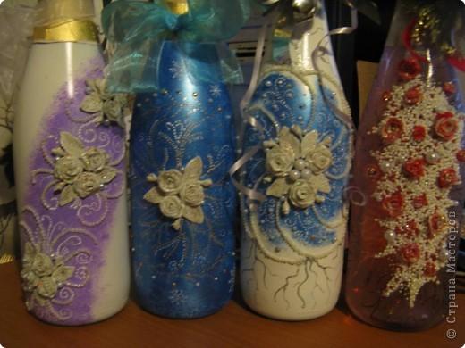 Вот такие бутылочки получились в подарок. фото 12