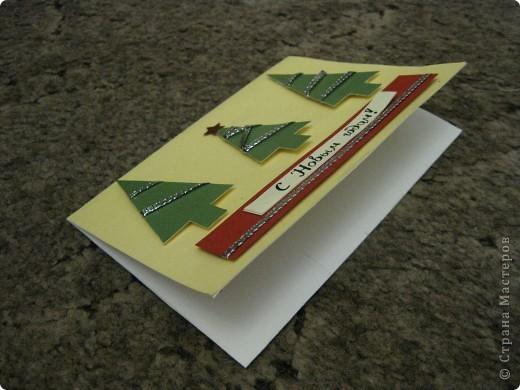 Новый год уже наступил и я, к сожалению, с опазданием выкладываю открытки, которые сделала для своих друзей. фото 7