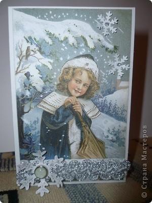 Девочка и снежинки фото 1