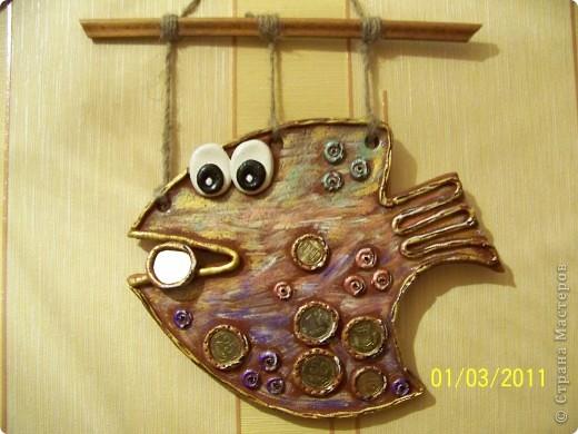 Вот такая денежная рыбка плавает теперь у меня в стайке. Спасибо за МК http://stranamasterov.ru/node/56136 фото 1